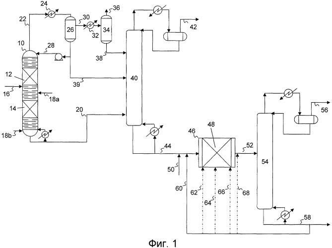 Способ гидродесульфуризации с выбранным жидким рециркулятом для уменьшения образования рекомбинантных меркаптанов