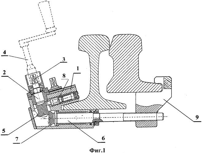 Комплект устройств для закрепления и контроля положения остряков и подвижных сердечников крестовин стрелок