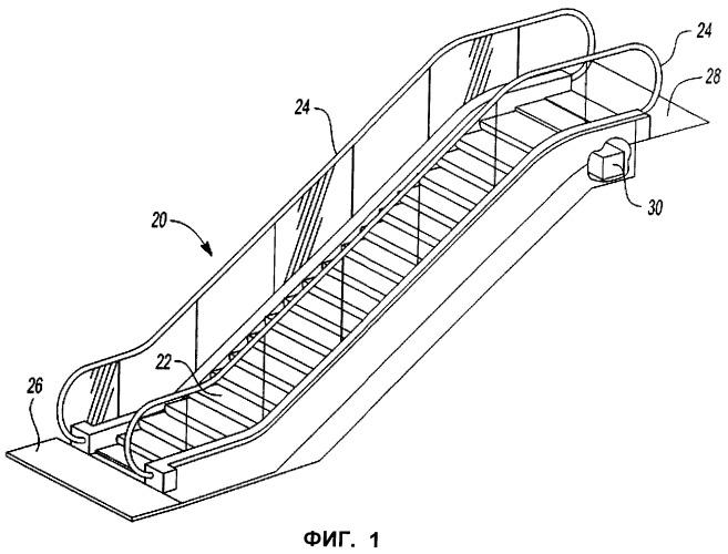 Устройство и способ управления рекуперированной мощностью пассажирского конвейера