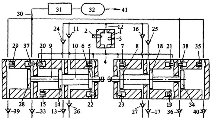 Способ синхронизации движения поршней двухцилиндрового свободнопоршневого с оппозитным движением поршней энергомодуля, соединённых с поршнями компрессора сжатия газов