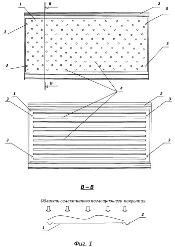 Солнечный коллектор для нагрева воды и способ использования его в строительстве в качестве листовых кровельных модулей при сооружении кровли любых размеров на скатных крышах зданий