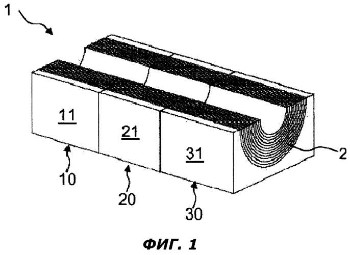 Трубный или кабельный ввод с собранными из блоков модулями