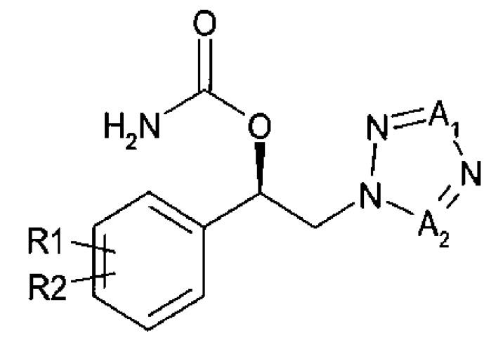 Способ получения (r)-1-арил-2-тетразолилэтилового эфира карбаминовой кислоты