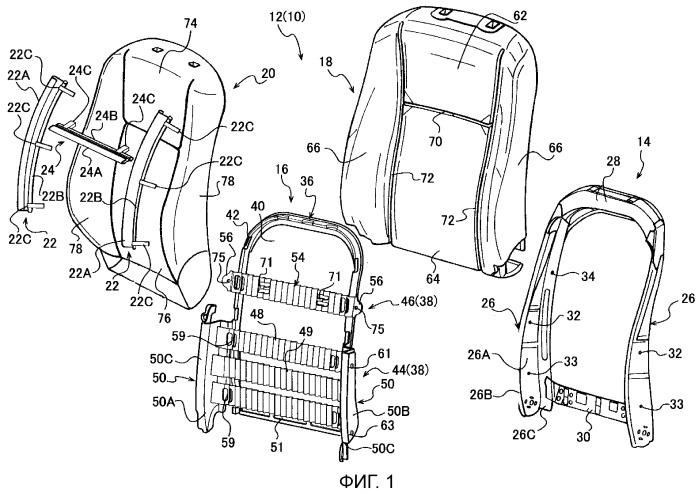 Сиденье транспортного средства и панель спинки сиденья