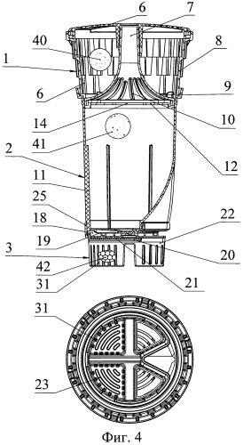 Фильтрующий модуль устройства для очистки жидкости (варианты)