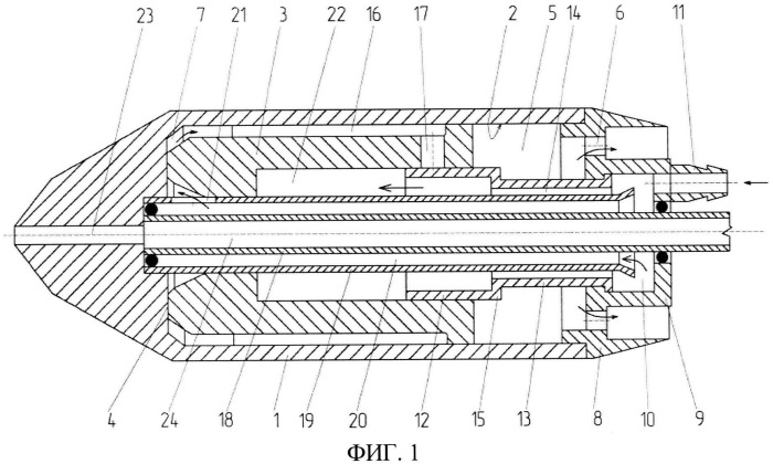Пневматический ударный механизм грунтозаборного устройства