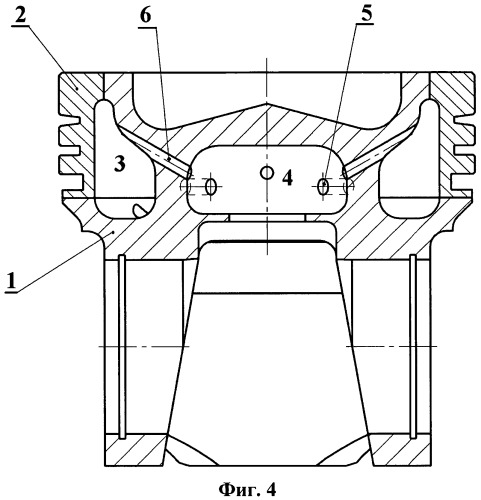 Поршень форсированного дизельного двигателя