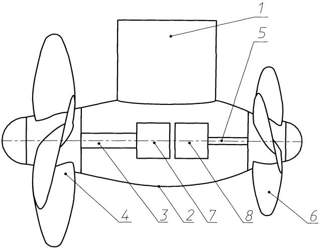 Судовая винто-рулевая колонка для движения и маневрирования судна в ледовых условиях