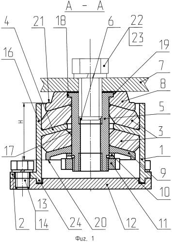 Виброизолятор большой грузоподъемности усовершенствованный (вбгу) и способ его сборки
