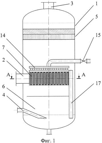 Сепаратор газа с промывкой