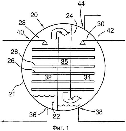 Модуль для совместного испарения/отгонки и абсорбции