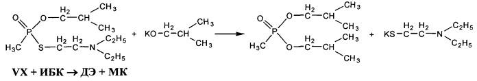 Способ переработки токсичных отходов, образующихся при уничтожении фосфорорганического отравляющего вещества типа vx