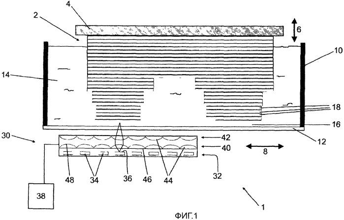 Осветительная система для применения в стереолитографическом устройстве