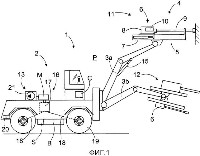 Камнебурильная установка и способ передачи камнебурильной установки