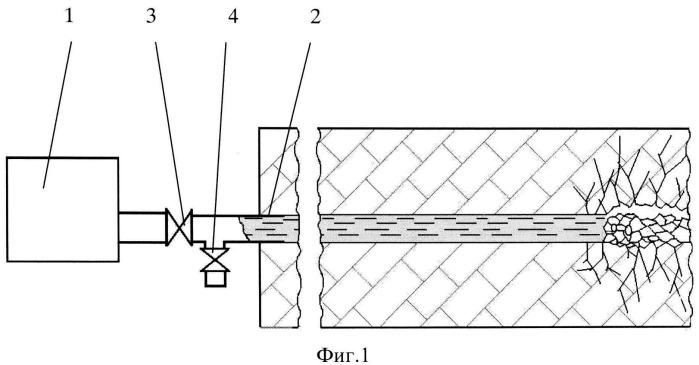 Способ ударно-волнового разрушения угольного пласта через скважины пробуренные из горных выработок