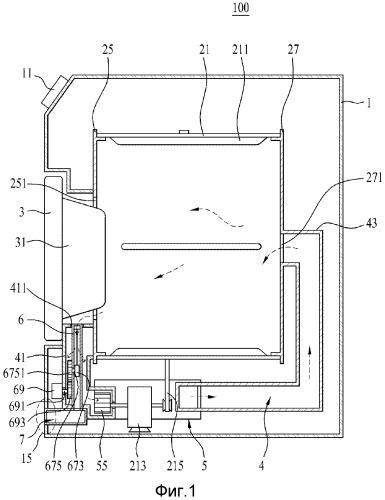 Устройство для обработки одежды с узлами удаления, сбора и прессования веществ для фильтра