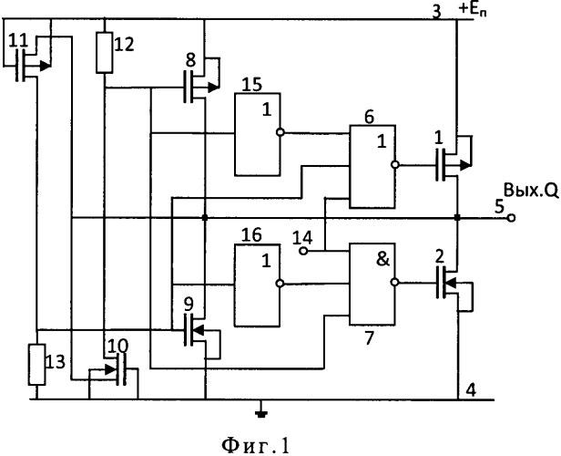 Выходной формирователь импульсных сигналов с устройством защиты от электростатических разрядов для кмоп микросхем
