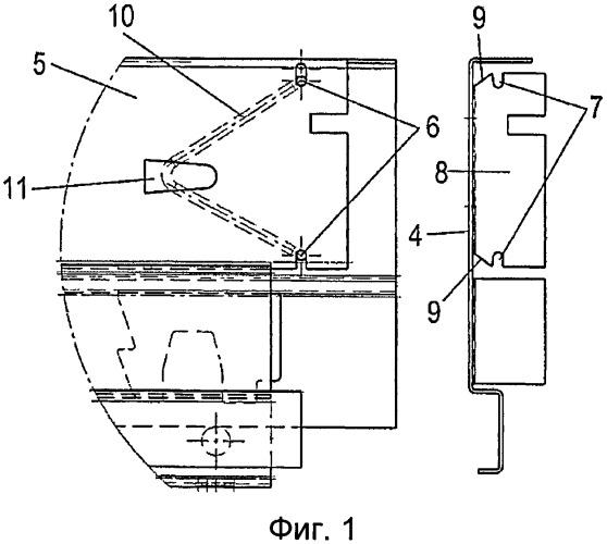Выдвижной ящик с двумя боковыми царгами и задней стенкой