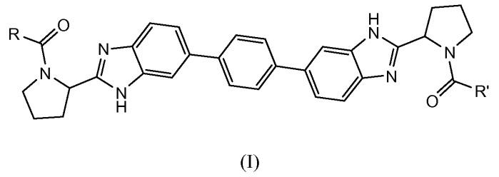 Производные бис-бензимидазола в качестве ингибиторов вируса гепатита с