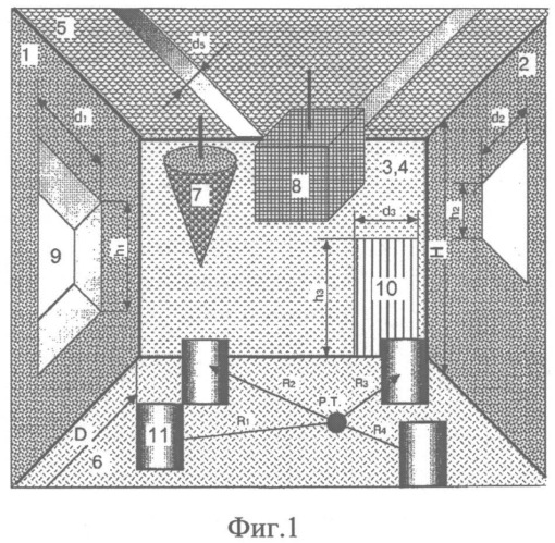 Штучный звукопоглотитель для акустической конструкции цеха