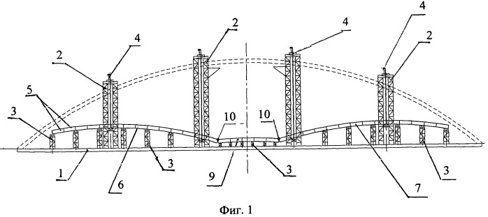 Способ монтажа свода арки