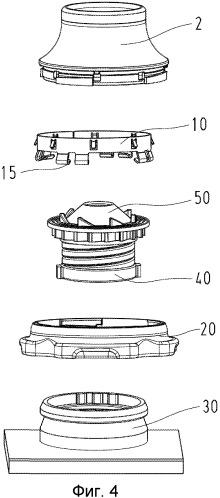 Устройство для фиксации кабеля на патрубке для вывода кабеля