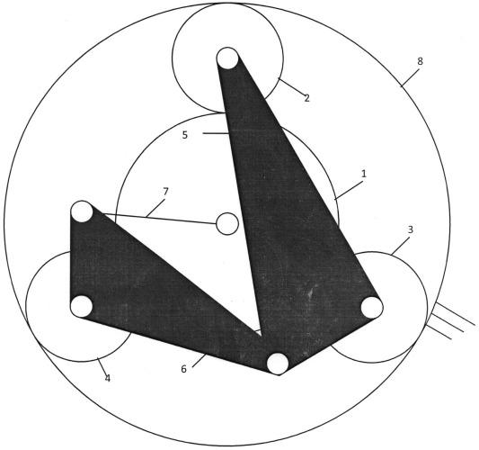 Самоустанавливающийся трехсателлитный планетарный редуктор