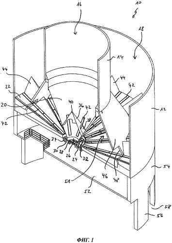 Хранилище большой емкости для пылевидного или зернистого сыпучего материала