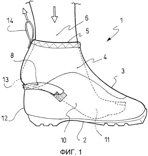 Ботинок с усовершенствованным голенищем