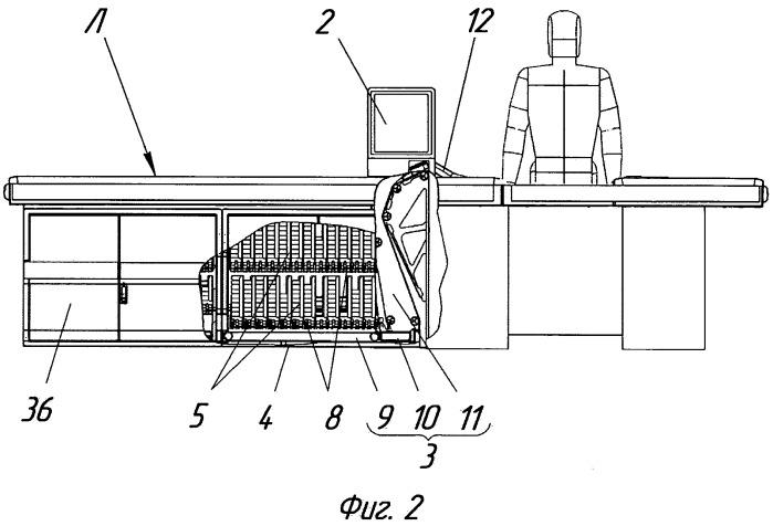 Устройство для выдачи пачек табачных изделий на транспортёрную ленту кассового узла супермаркета