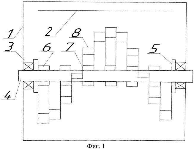 Почвообрабатывающая фреза с двухступенчатыми ножами в-образной формы