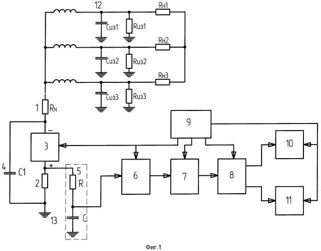 Устройство для измерения и контроля сопротивления изоляции под рабочим напряжением в силовых сетях переменнего тока с резистивной нейтралью
