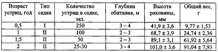 Способ выращивания гигантской устрицы crassostrea gigas в черном море