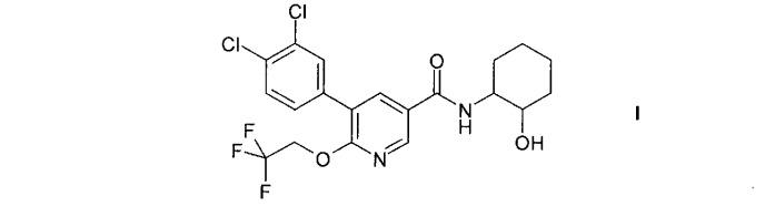 5-(3,4-дихлорфенил)-n-(2-гидроксициклогексил)-6-(2,2,2-трифторэтокси)никотинамид и его соли в качестве средств, повышающих концентрацию лвп холестерина