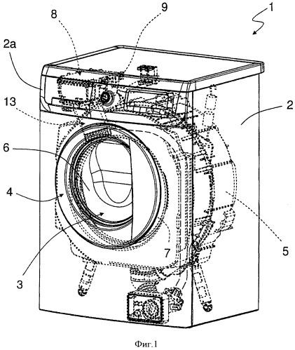 Стиральная машина с усовершенствованным контуром подачи моющей/ополаскивающей жидкости