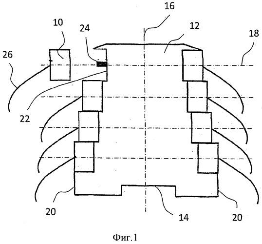 Система соединения однорядного корпуса с соединительным элементом