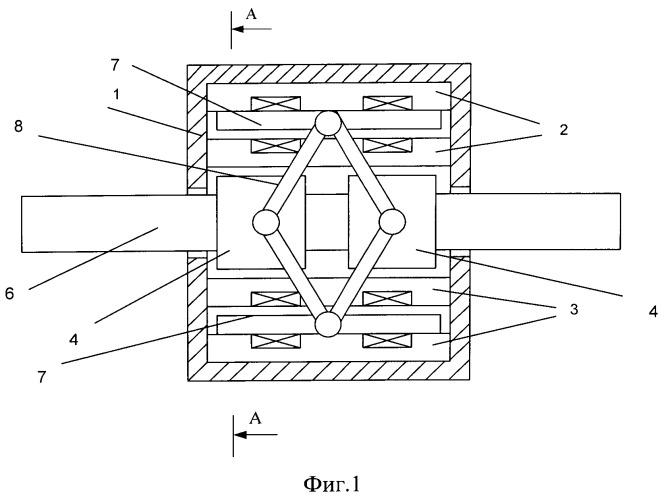 Линейный электромагнитный двигатель