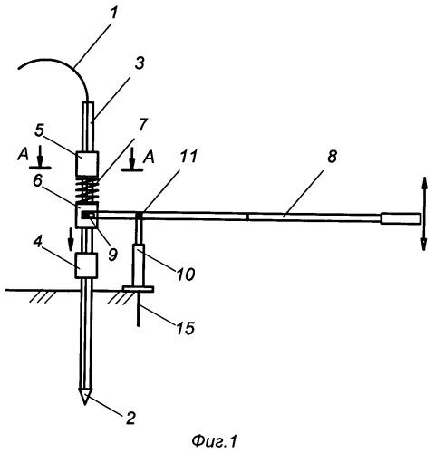Устройство для установки проволочных анкеров на склонах и оврагах