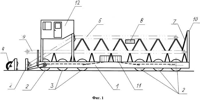 Самоходный дорожно-строительный агрегат