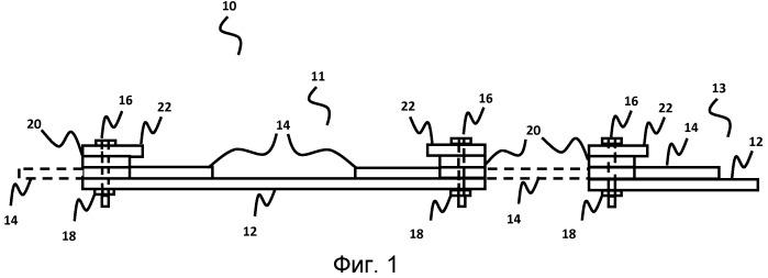 Геоармирующая система на основе шин