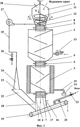 Линия микронизации фуражного зерна