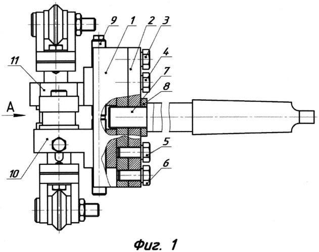 Двухроликовая инструментальная державка для электромеханического упрочнения отверстия