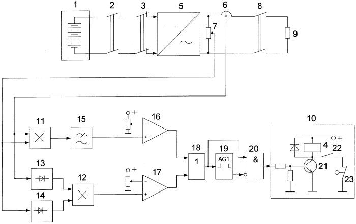Устройство защиты инвертора от перегрузки по мощности