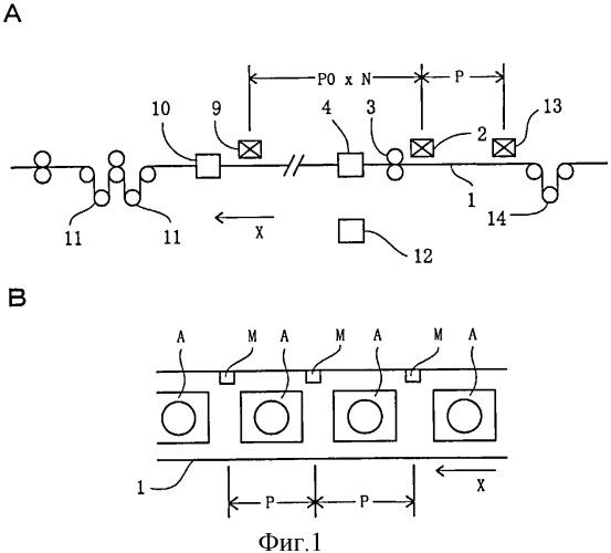 Устройство коррекции шага печати для пластиковой пленки