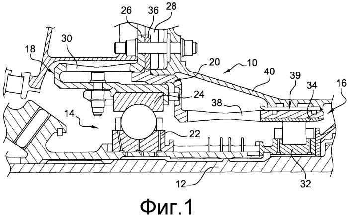 Центрирующее и направляющее по вращательному движению устройство для вала газотурбинного двигателя