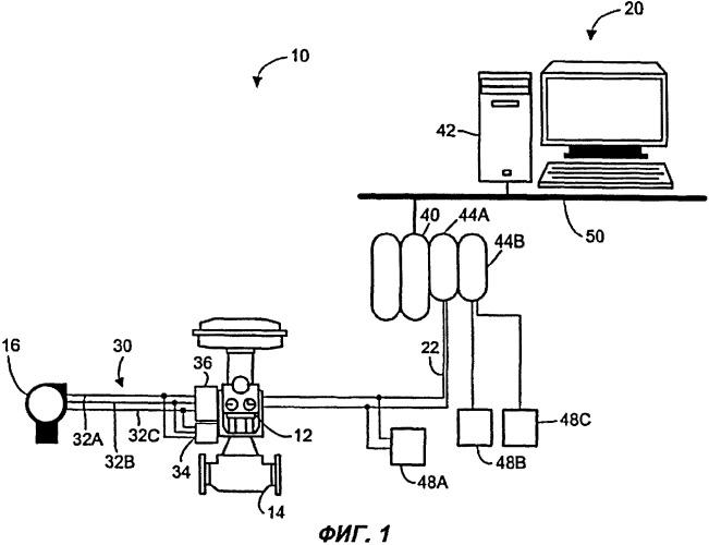 Схема для подавления синфазных помех в полевом устройстве