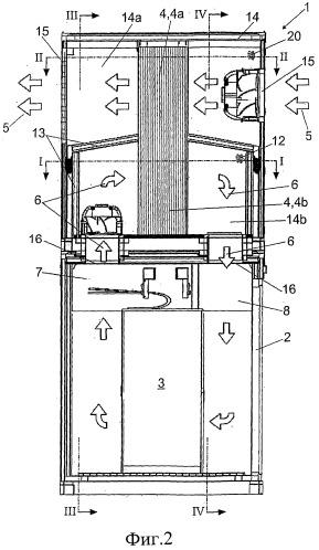 Система кондиционирования воздуха внутреннего пространства центра обработки данных