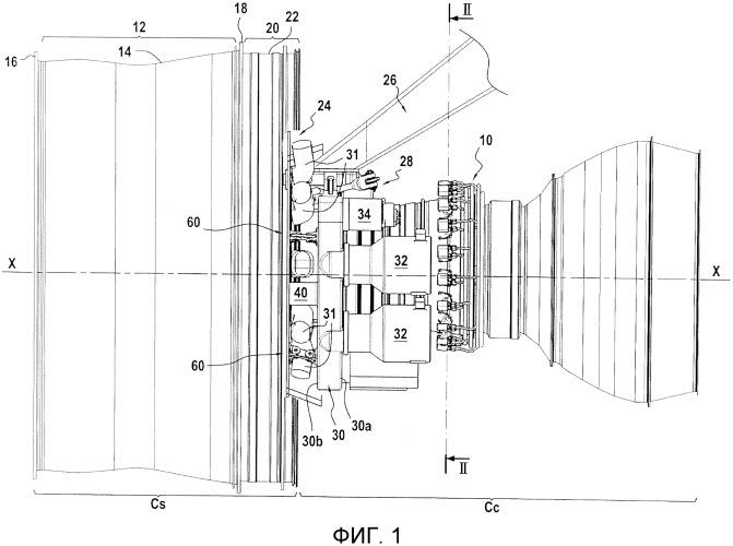 Установка кпа на промежуточный корпус вентиляторного отсека турбореактивного двигателя