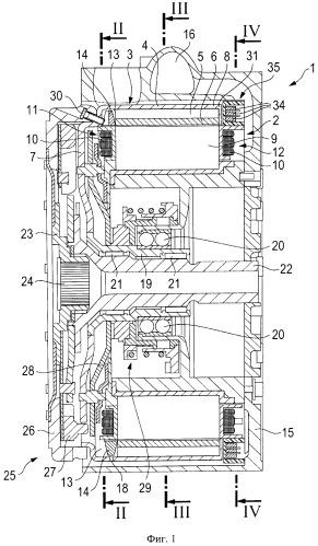 Электрическая машина для гибридных или электрических транспортных средств