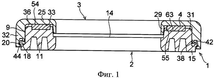 Упорный подшипник скольжения и монтажная конструкция подвески стоечного типа с использованием упорного подшипника скольжения